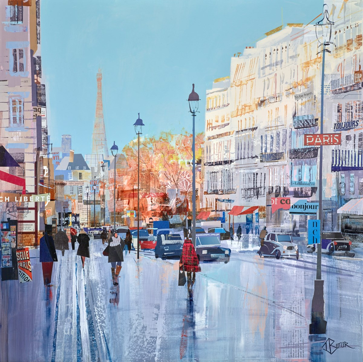 Parisian Promenade by tom butler -  sized 30x30 inches. Available from Whitewall Galleries